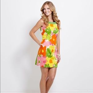 Vineyard Vines Garden Party floral dress with bows